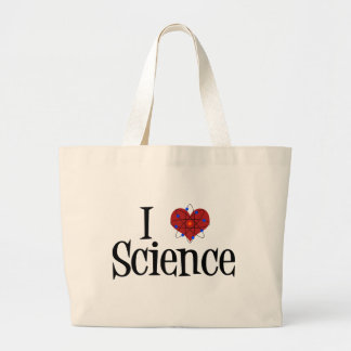 I Heart Science Large Tote Bag