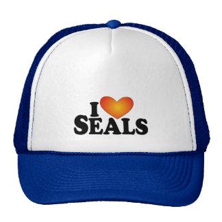 I (heart) Seals - Lite Products Mesh Hats