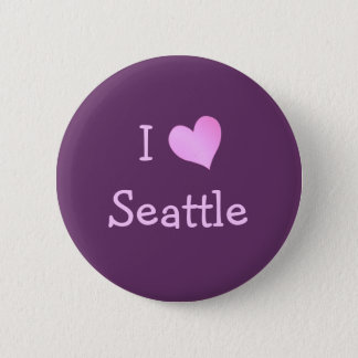 I Heart Seattle 6 Cm Round Badge