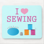 I Heart Sewing Mouse Pad