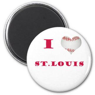 I Heart Shapped Baseball St. Louis Magnet