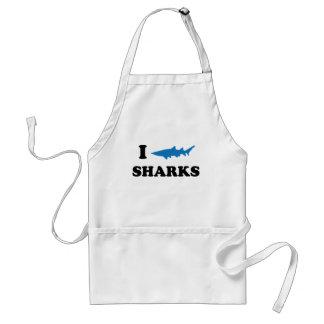 I Heart Sharks Adult Apron