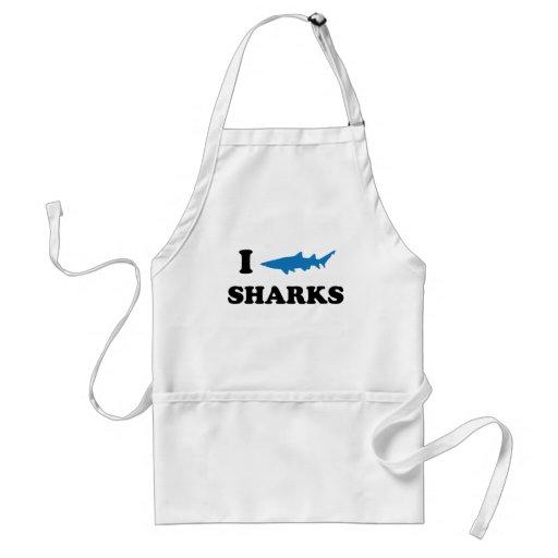 I Heart Sharks Apron