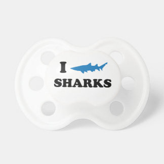 I Heart Sharks Baby Pacifiers