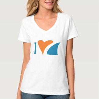 I Heart Sharks V-Neck T-Shirt