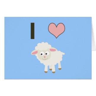 I heart Sheep Note Card
