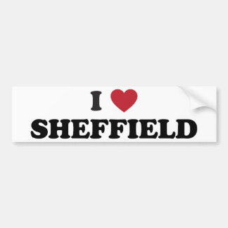 I Heart Sheffield Great Britain Bumper Sticker