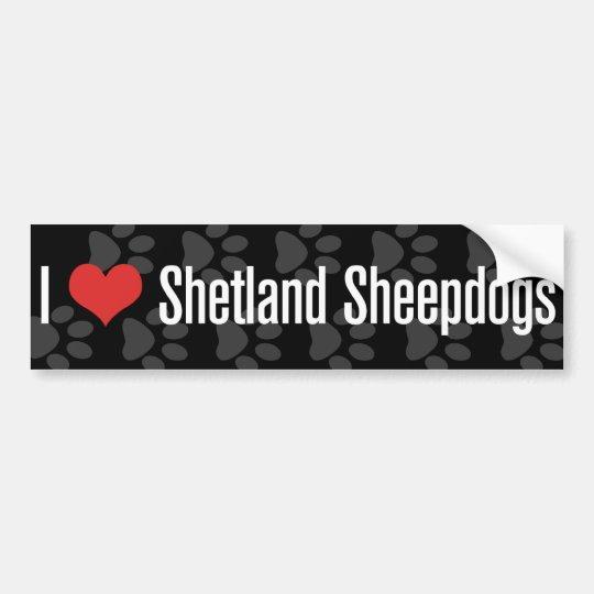 I (heart) Shetland Sheepdogs Bumper Sticker