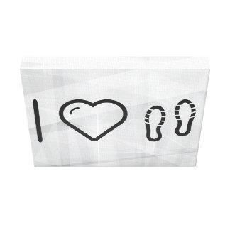 I Heart Shoes Footprints Canvas Prints