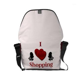 I Heart Shopping Commuter Bags