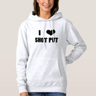 I Heart Shot Put, Shot Put Throw Hoodie