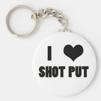 I Heart Shot Put, Shot Put Throw Key Chain