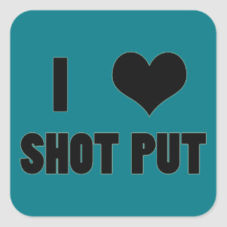 I Heart Shot Put, Shot Put Throw Stickers