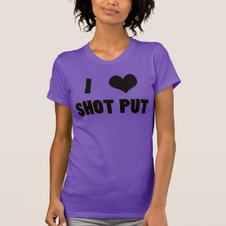 I Heart Shot Put, Shot Put Thrower Shirt