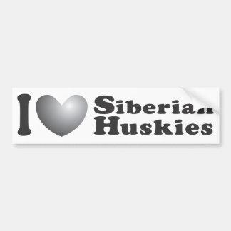 I Heart Siberian Huskies - Bumper Sticker