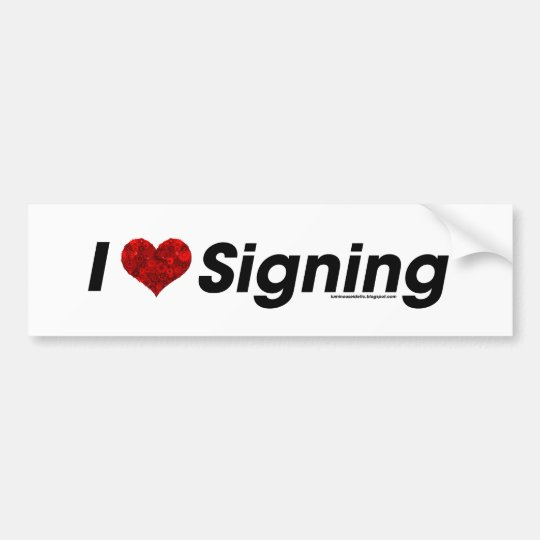 I heart Signing with a Gear Heart! Bumper Sticker