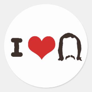 I Heart Silhouette Classic Round Sticker