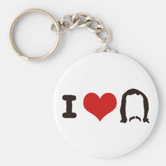 I Heart Silhouette Key Ring
