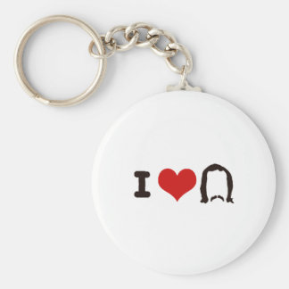 I Heart Silhouette Key Ring