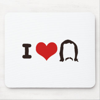 I Heart Silhouette Mouse Mat