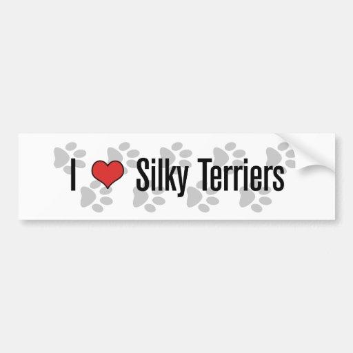 I (heart) Silky Terriers Bumper Stickers
