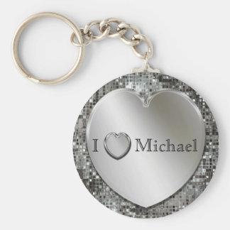 I Heart...Silver Heart Keychain