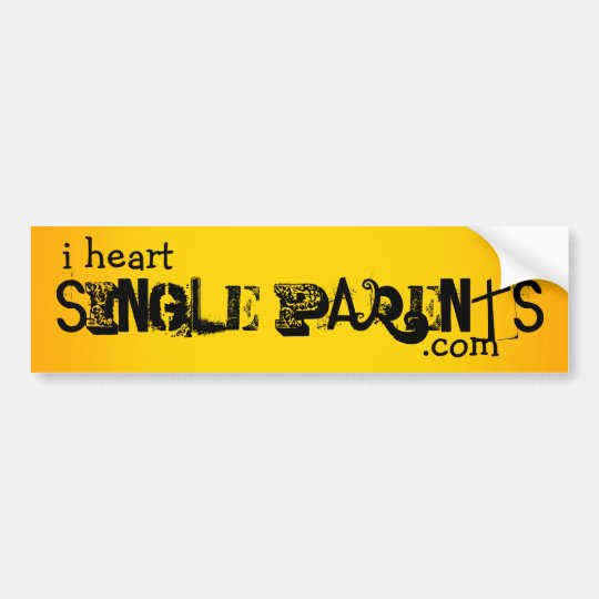 i heart single parents bumper sticker