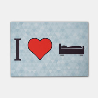 I Heart Sleeping Post-it Notes