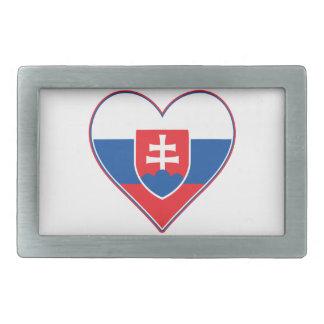 I Heart Slovakia Belt Buckles