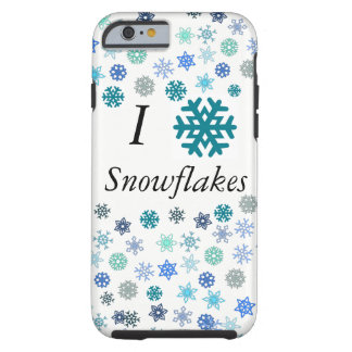 I Heart Snowflakes Tough iPhone 6 Case