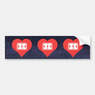 I Heart Soccer Complexes Bumper Sticker