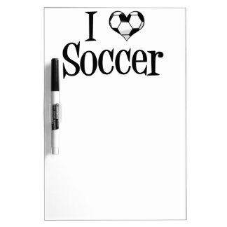 I Heart Soccer Dry Erase Board
