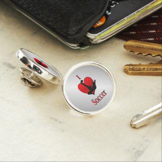 I Heart Soccer Lapel Pin