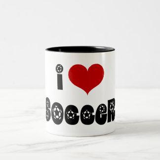 """I """"heart"""" Soccer Mugs"""