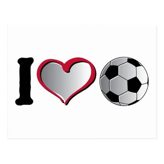 I Heart Soccer Postcard