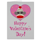 I Heart Sock Monkey Card