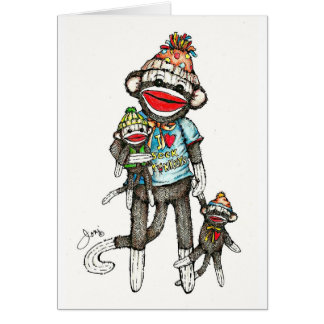 I Heart Sock Monkeys Cards