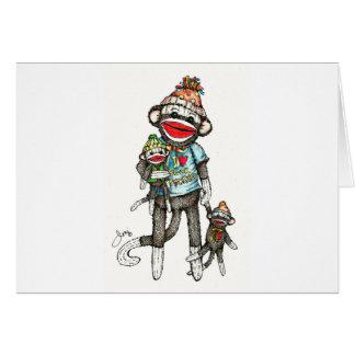 I Heart Sock Monkeys Card