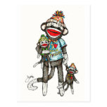 I Heart Sock Monkeys Postcards