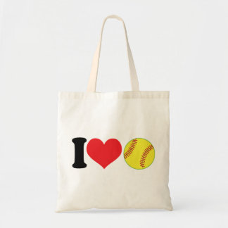 I Heart Softball Tote Bag