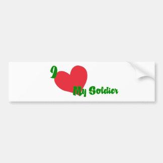 i heart soldier Bumper Sticker