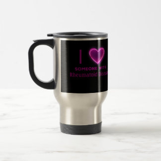 I heart Someone with (YOUR TEXT here) Travel Mug