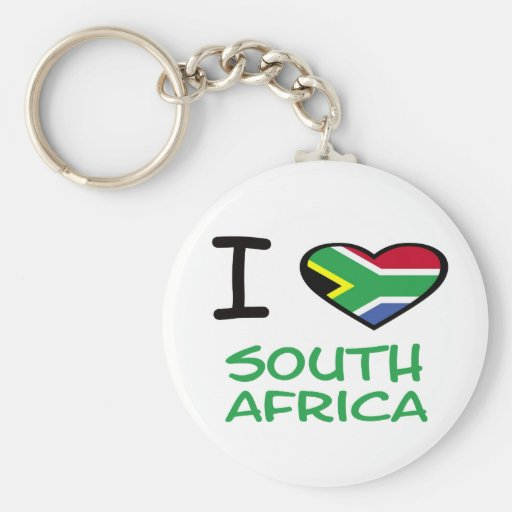 I heart South Africa Key Chains