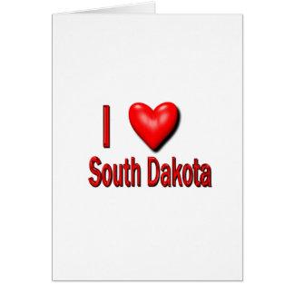 I Heart South Dakota Greeting Card