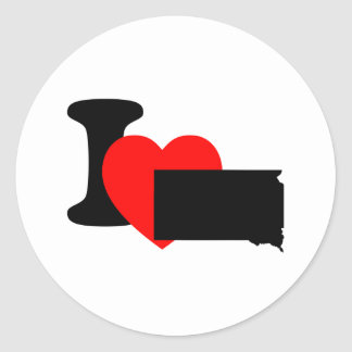 I Heart South Dakota Round Sticker