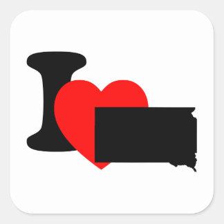 I Heart South Dakota Square Sticker