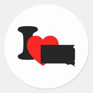 I Heart South Dakota Classic Round Sticker