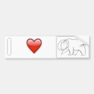 I Heart SpaceBears Bumper Sticker