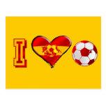 I heart Spanish Soccer Postcard