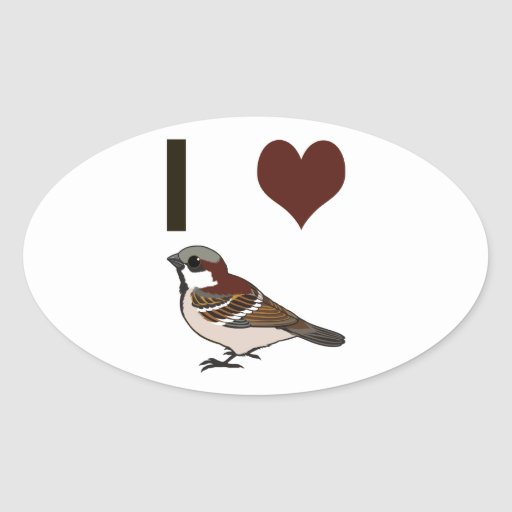 I heart sparrows sticker